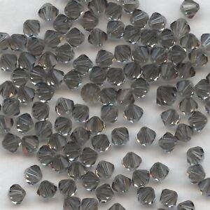 100% Vrai T5 5301 Bd *** 20 Toupies Cristal Swarovski 5mm Black Diamond