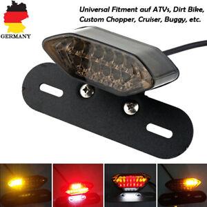 Motorrad-20-LED-Ruecklicht-Blinker-Bremslicht-Heckleuchte-Nummernschild-Lampe-12V