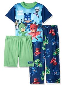 Catboy /& Owlette 3-pc Toddler Boy PJ Masks Gekko Pajama Set 2T