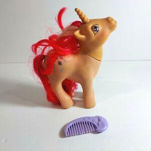 "1984 My Little Pony G1 6"" Skyflier Glitter Unicorn Figure w/ Comb MLP"