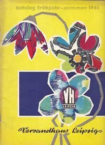Katalog Frühjahr-Sommer 1961 Versandhaus Leipzig DDR GDR