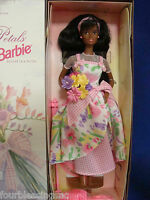 1996 Barbie 16871-spring Petals-mattel-new In Box-avon -2nd In Series-black
