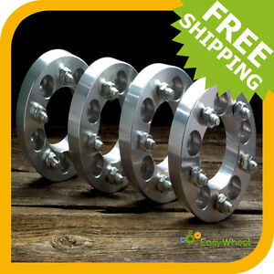 4-Chevy-Wheel-Spacers-Adapters-fits-Camaro-Corvette-S10-Blazer-S15-Jimmy-1-inch