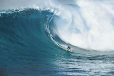 """Lets go Surfing photography poster 24x36"""" Surfing a huge wave on board"""