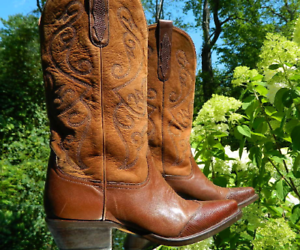 1990's Made Nine West Western Boots Made 1990's in Brazil US Woman Size 7.5 39c22e