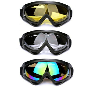 7a1dfae6264 Motorcycle Goggles Over Glasses Black Frame   Clear Lens For Classic ...