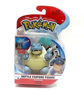 New S3 Pokemon BLASTOISE Battle Feature Deluxe 4'' Action Figure