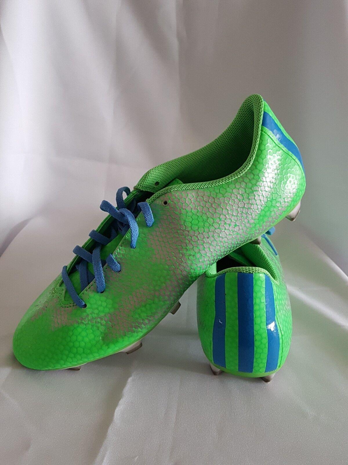 6fb6d12c6 Flash Green Lucky Blue Silver Metallic adidas F 5 FG - - - Women s ...