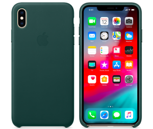 Waldgruen-iPhone-XS-Max-Apple-Echt-Original-Leder-Huelle-Leather-Case