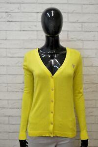 Maglione-GUESS-Donna-Taglia-M-L-Pullover-Cardigan-Sweater-Woman-Giallo-Cotone