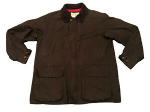 Orvis Field Jacket Waxed Canvas Cotton Barbour style Barn ...