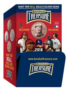 2018-Baseball-Treasure-Coins-36-packs-gravity-Feed-Box
