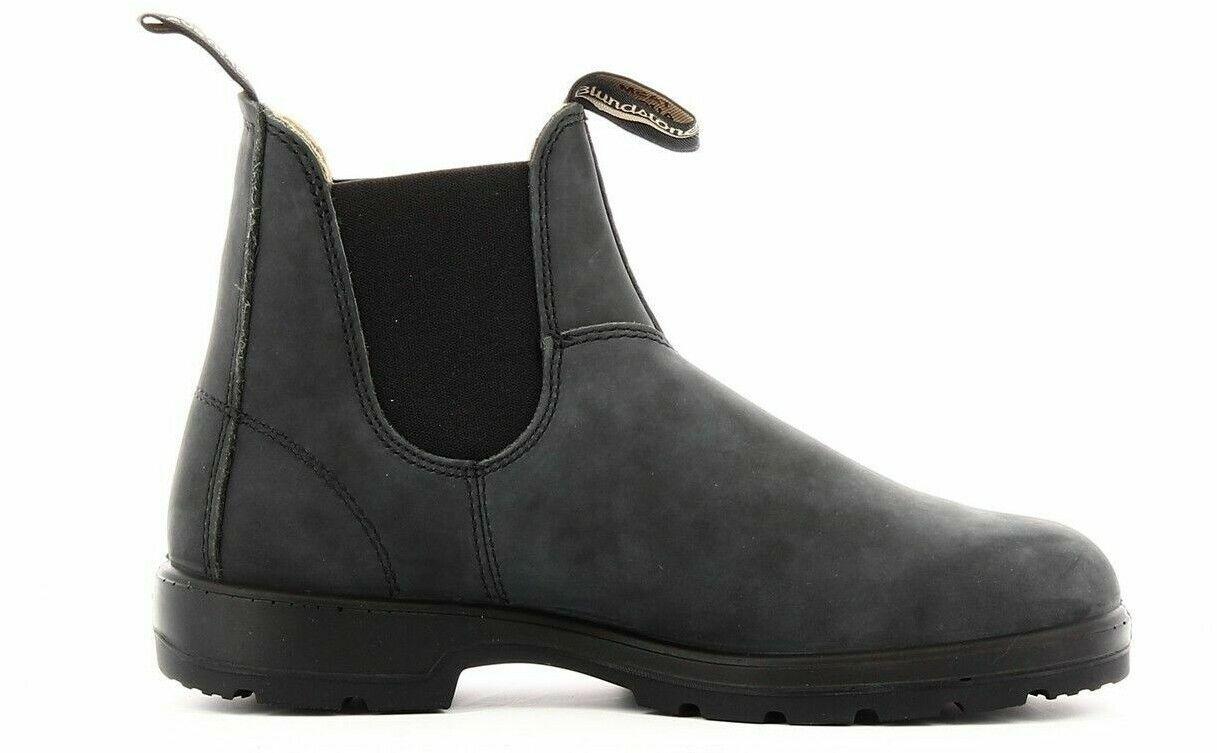 Blaundstone 587 Stiefeletten Wildleder Schwarz Elastisch Stiefel Schuhe Stiefel