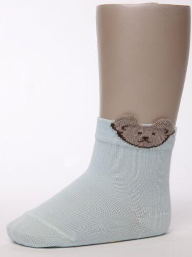 Steiff ® 3d Teddy-caballero calcetines o patucos hielo azul 62-68 74-80 86-92 98-104 2016 nuevo!