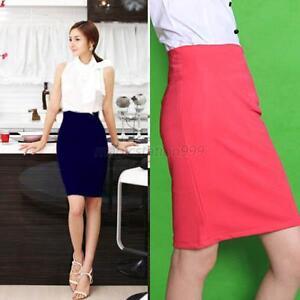sexy femme mini jupe moulante elastique jupe droite crayon collant haute taille ebay. Black Bedroom Furniture Sets. Home Design Ideas