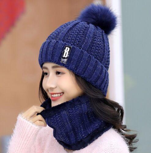 Winter knitted Beanies Hats Women Thick Warm Beanie Skullies Hat Female knit cap