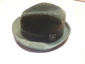 Image is loading Stetson-Green-Corduroy-Fedora-Hat-Size-7 881f81c484f