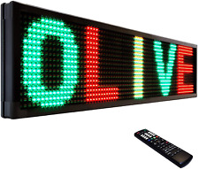 Olive Led Sign 3color Rgy P30 22x60 Ir Programmable Scrolling Outdoor Signs