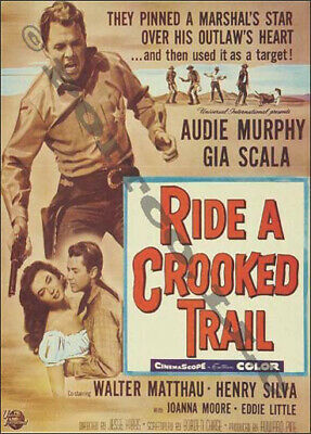 Ride A Crooked Trail 1958 Staring Audie Murphy Gia Scala Ebay