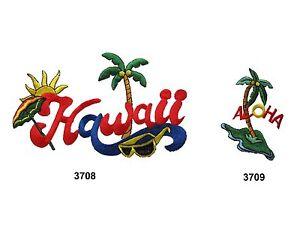 HAWAII-ALOHA-Palm-Tree-Sunshine-Embroidery-Iron-On-Applique-Patch-PC