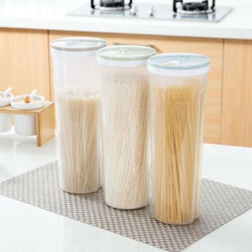 Clear Plastic Tall Dry Food Spaghetti Noodle Pasta Container Box Food Storage //