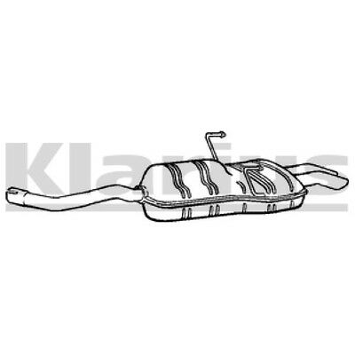 1x KLARIUS OE Quality Replacement Rear End Silencer Exhaust For FORD Petrol