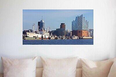 Hamburg Alter Elbtunnel Panorama Bild Leinwand Poster XXL 120 cm*40 cm 518