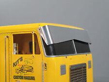 Front Aluminum Bowtie Sun Visor Plate Tamiya RC 1/14 Globe Liner Semi Truck