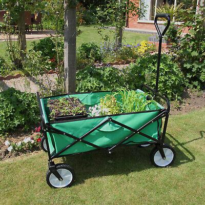 Colto Chariot Pour Jardin Pliable Caddie Utilité Brouette Vert Transport Puissant Remo