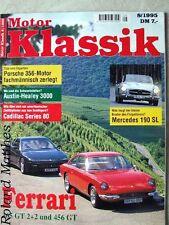 MOTOR KLASSIK 8-95+FERRARI 356/456+MERCEDES SL+AUSTIN HEALEY 100+CADILLAC 36-80