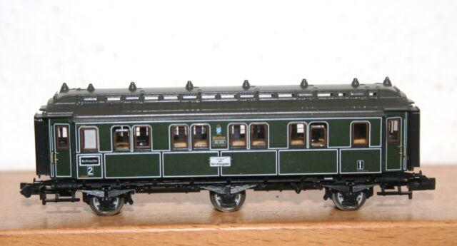 Minitrix Spur N 15772 Personenwagen 3 Lo Kl der K.Bay.Sts.B.
