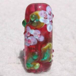 MAYDAY Handmade Art Glass Focal Bead Flaming Fools Lampwork Art Glass SRA