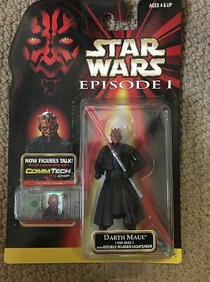 Hasbro Star Wars Episode 1 Darth Maul Jedi Duel lame double Saber action figure