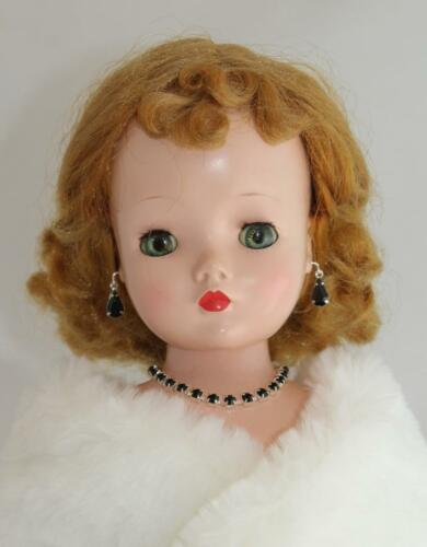 "Jet Black Rhinestone Set Earrings Necklace Bracelet Cissy Revlon 18-20/"" Doll"