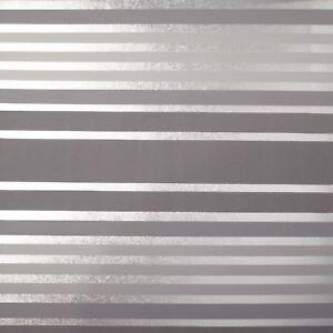 Crown-Luxe-Mayfair-Eaton-Rayure-Papier-Peint-Argent-Gris-M1472