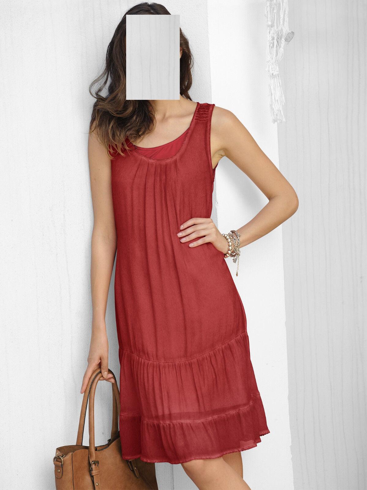 Marken Layering Kleid 2 in 1 burnedrot  Gr. 42 0518149664