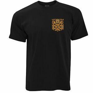 Mens-Cool-Hipster-T-Shirt-Leopard-Print-Fake-Pocket-Printed-Swag-Fun-Tshirt
