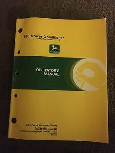 john deere mower conditioners operator s manual image is loading john deere 820 mower conditioners operator 039 s