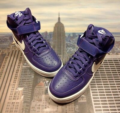 Nike Shoes Air Force 1 High Top Man 823297 500 Shoes Purple