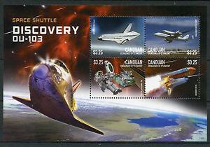 Canouan-GREN-ST-Vincent-2015-Gomma-integra-non-linguellato-Space-Shuttle-Discovery-ou-103-4v-M-S-I
