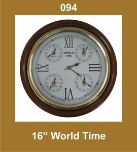 World-Time-Clock-16-039-039-Nautical-Roman-Number