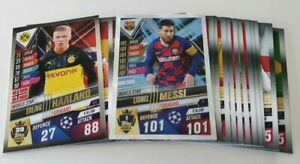 2020 Match Attax 101 Soccer Cards - Lot of 20 cards inc shiny