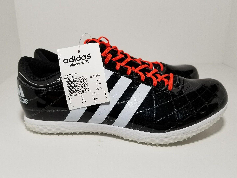 Adidas Adizero High Jump Track Spikes Nero White M29587 Uomo Size 10