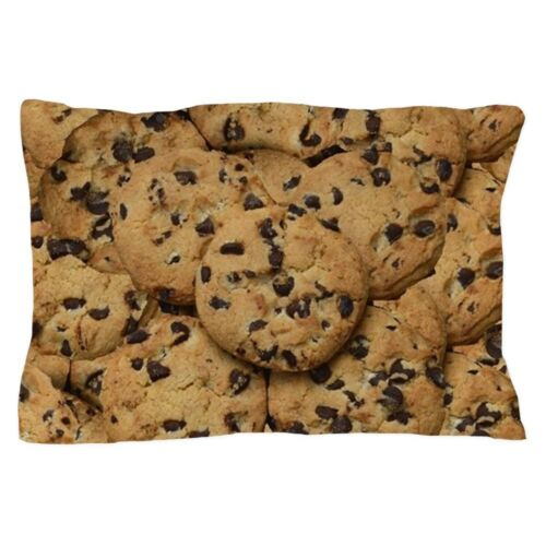 CafePress Chocolate Chop Cookie Pattern Pillow Case 1612412524