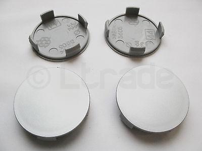 4x Nabenkappen Felgendeckel Nabendeckel Ø 56mm-54mm Silber Felgenkappen Neu