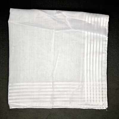 Hand rolled 100/% Linen Solid White Pocket Square Linen Mens Pocket Square