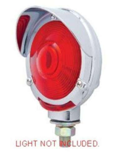 """light bezel 4/"""" round fender turn signal visor for Peterbilt Kenworth Freightline"""