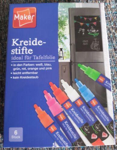 Maker6 KreidestifteVerschiedene Farben NEU//OVP