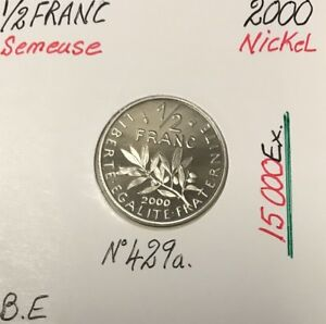 1-2-FRANC-SEMEUSE-2000-Piece-de-Monnaie-en-Nickel-BE