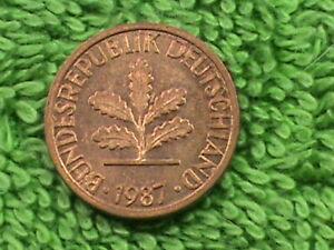 WEST GERMANY 1 Pfennig 1987 F